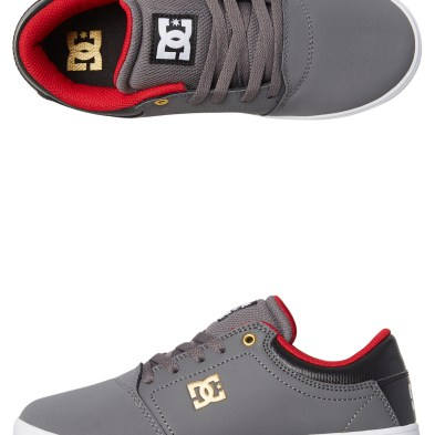 24500e1485ef Dc Shoes Youth Crisis Shoe Grey Black Red Baby Boys Shoes Available on sale  now in size 3 ...