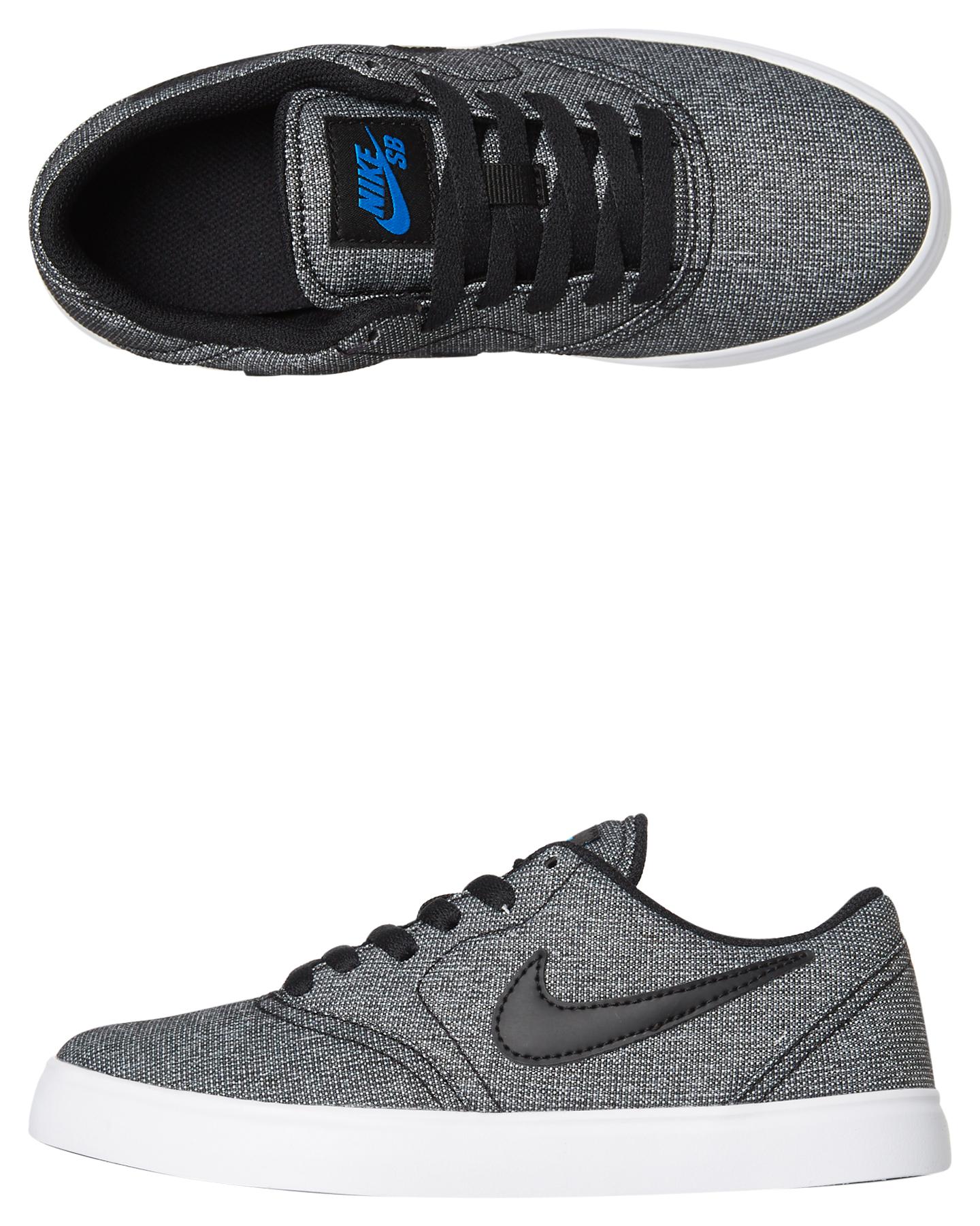 f2f4f9c0616 Nike Kids Boys Sb Check Canvas Shoe Black White