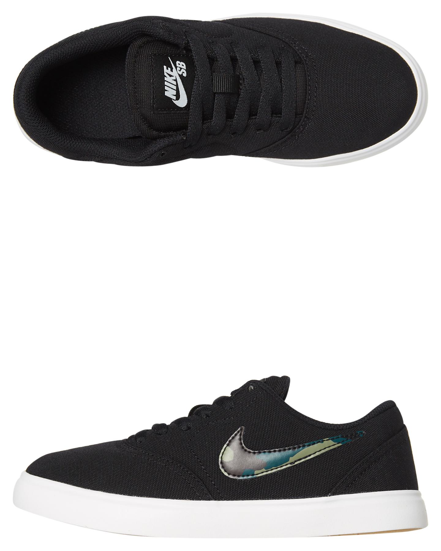 Nike Kids Boys Sb Check Canvas Shoe Black Olive Shoes Size 7 ... 60597bbe6e22
