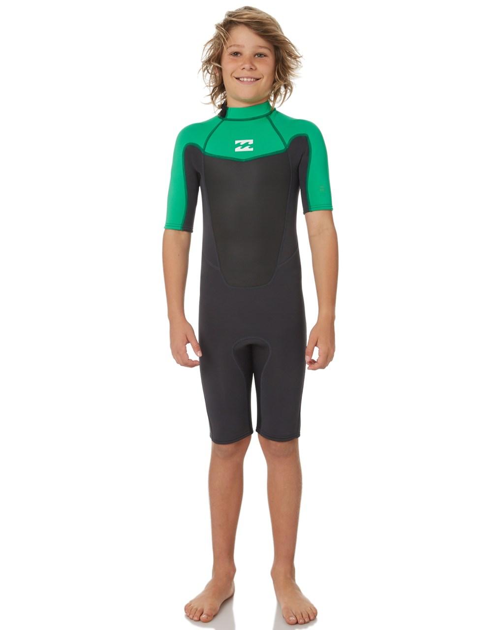 a1bd2f8ff2 Billabong Boys Absolute 202 Bz Springsuit Green Surfing Wetsuits ...