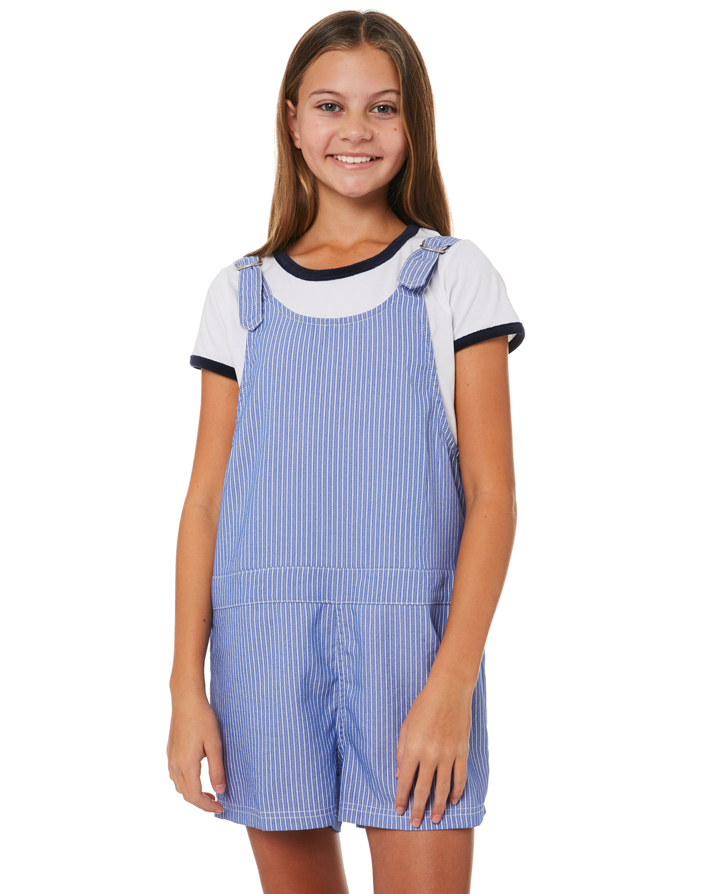 b89743a7f729 Eves Sister Kids Girls Kelly Jumpsuit Blue White Stripe Playsuit ...