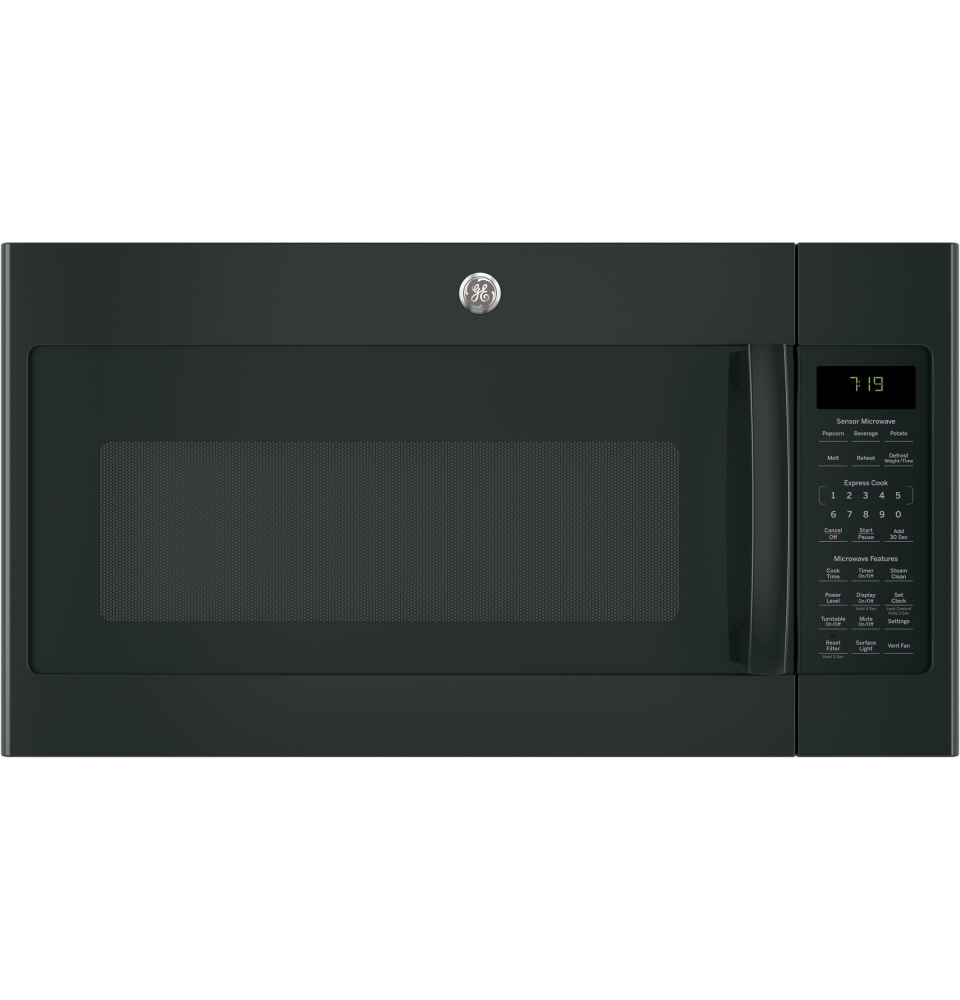 jvm7195flds ge 30 1 9 cu ft over the range sensor microwave oven with easy clean and 400 cfm black slate
