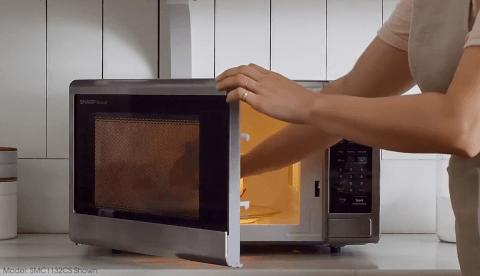 sharp carousel 1 1 cu ft 1000 watt countertop microwave stainless steel