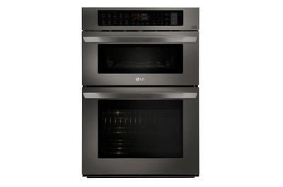 lg 30 in self cleaning convection microwave wall oven combo black stainless steel