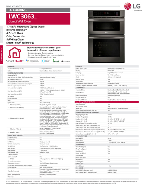 in the microwave wall oven combinations