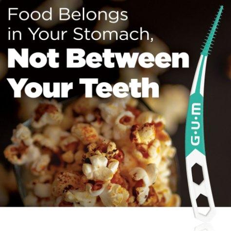 O alimento pertence ao seu estômago, não entre os seus dentes