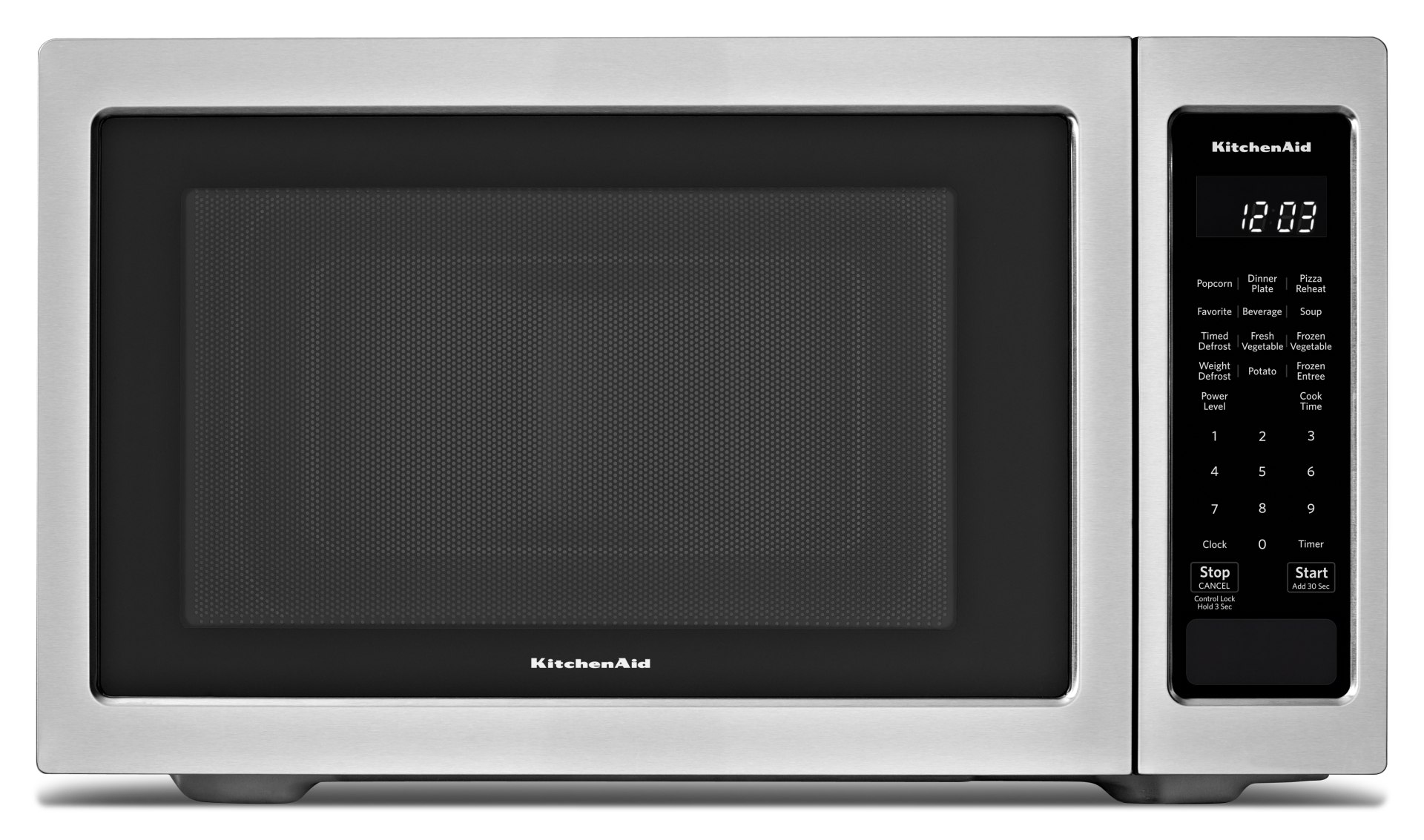 kitchenaid 1 6 cu ft countertop microwave oven with 9 quick touch cycles including six sensor cycles timed defrost