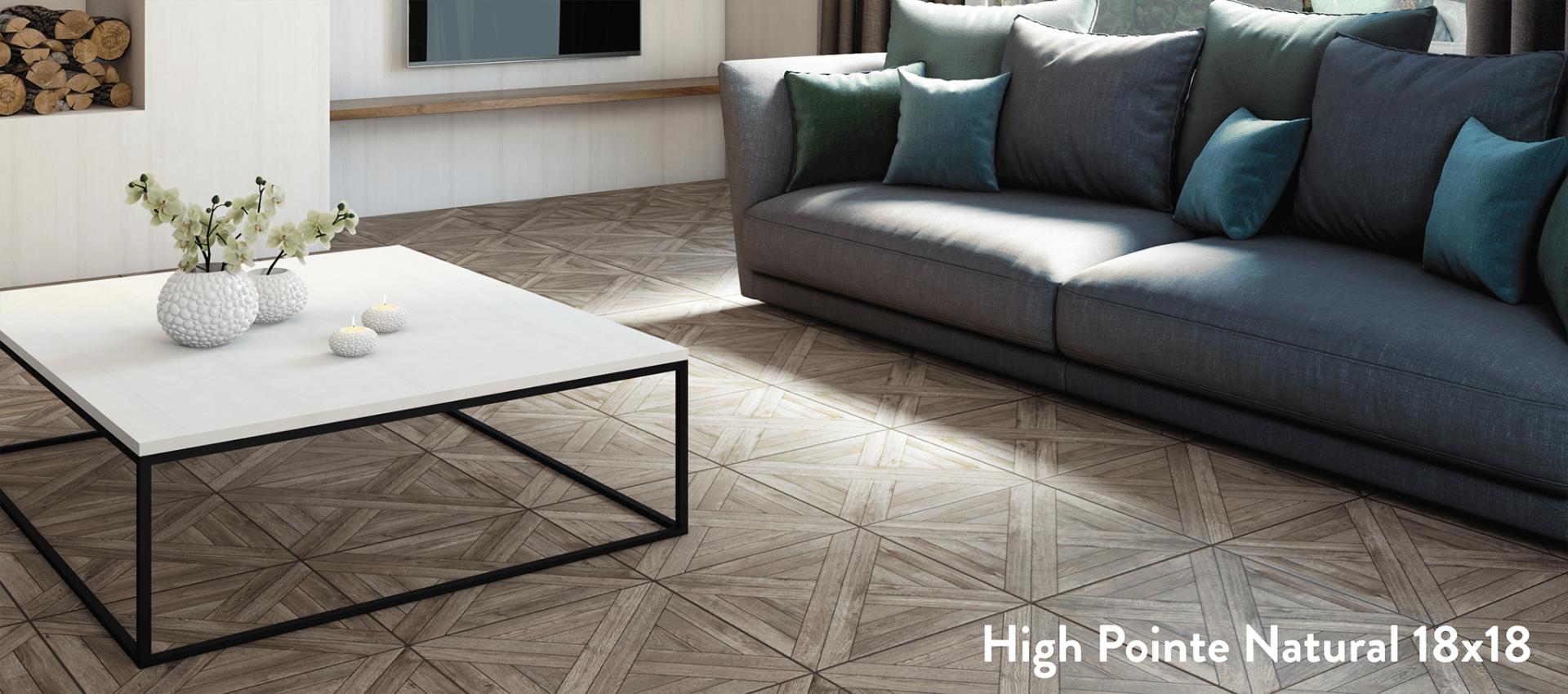 american olean high pointe 8 pack brown 18 in x 18 in matte porcelain wood look floor and wall tile