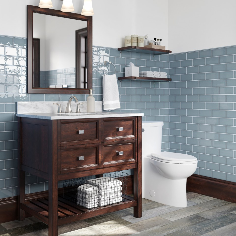 allen roth blue 3 in x 6 in glazed ceramic subway wall tile