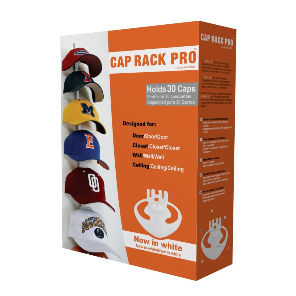 perfect curve cap rack pro in white