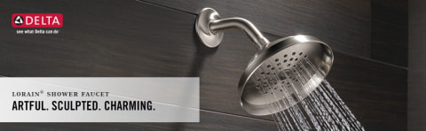 delta lorain stainless 1 handle bathtub and shower faucet with valve