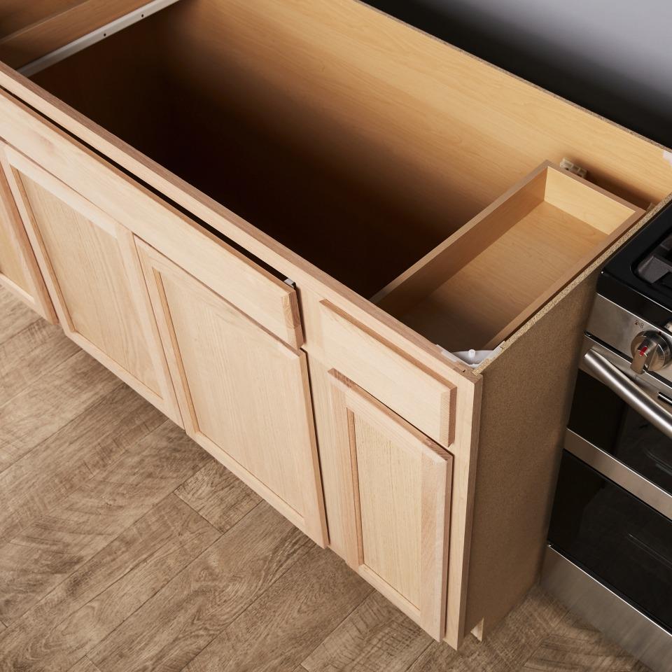 unfinished sink base stock cabinet