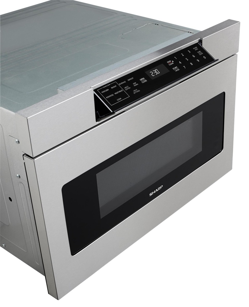 smd3070as sharp 30 microwave drawer oven with hidden control panel stainless steel