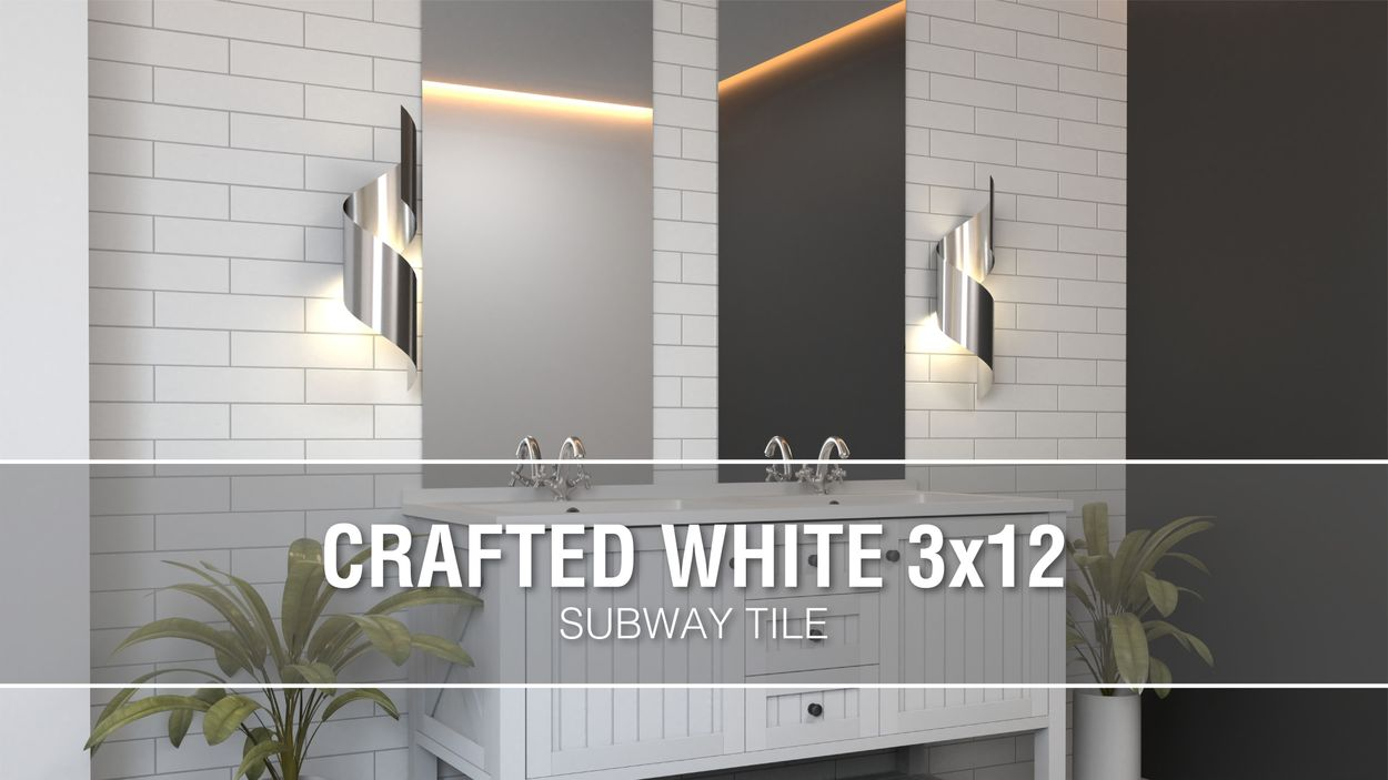 boutique ceramic boutique crafted white 3x12 3 in x 12 in glazed ceramic subway wall tile