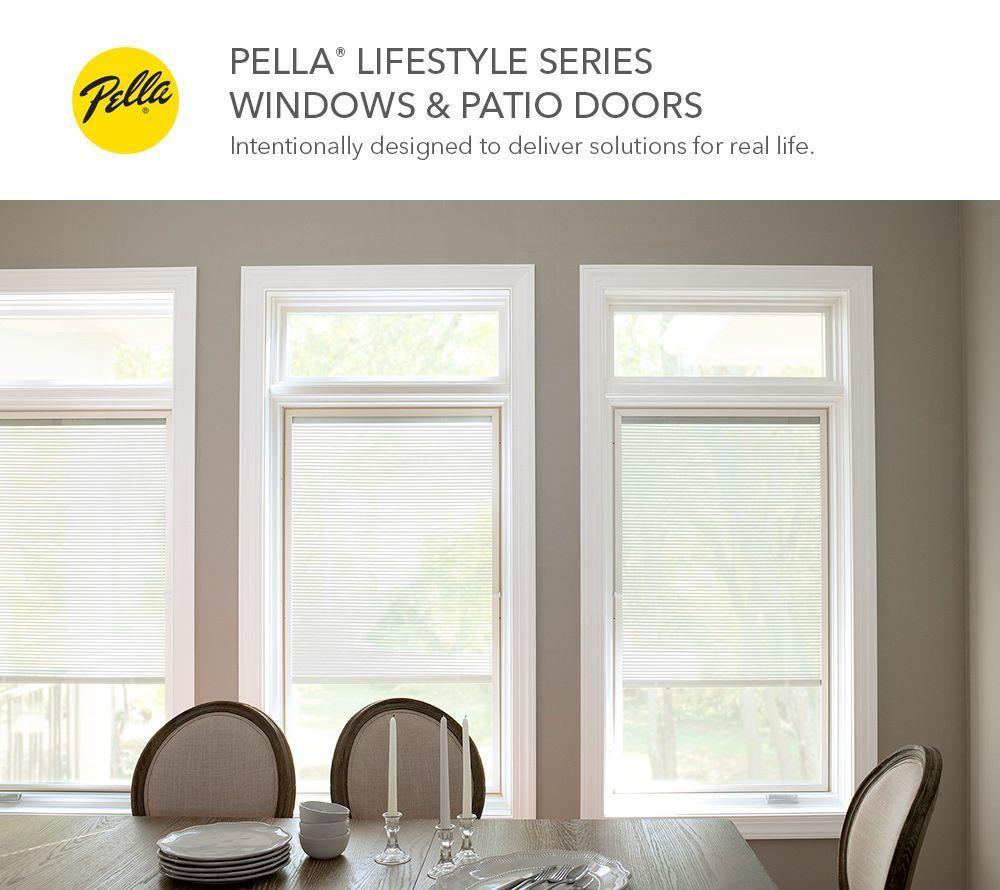pella lifestyle 72 in x 80 in clear glass wood left hand sliding double door sliding patio door