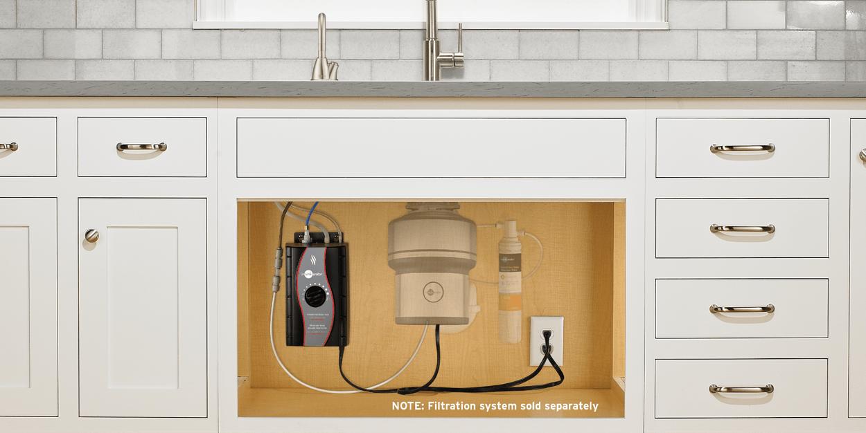 insinkerator invite satin nickel hot water dispenser