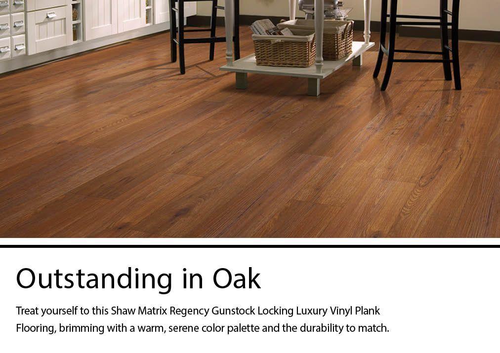 shaw matrix regency gunstock 5 9 in x 48 in waterproof interlocking luxury vinyl plank flooring 27 58 sq ft