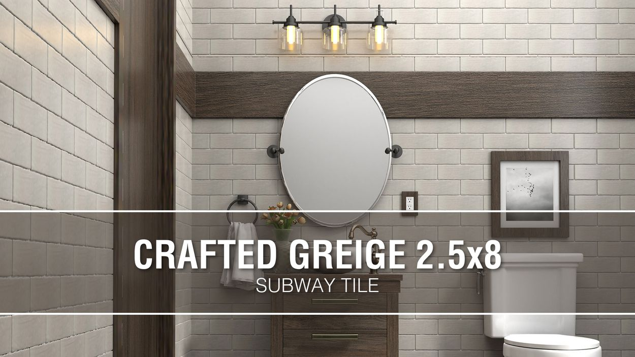 boutique ceramic boutique crafted greige 2 5x8 2 1 2 in x 8 in glazed ceramic subway wall tile