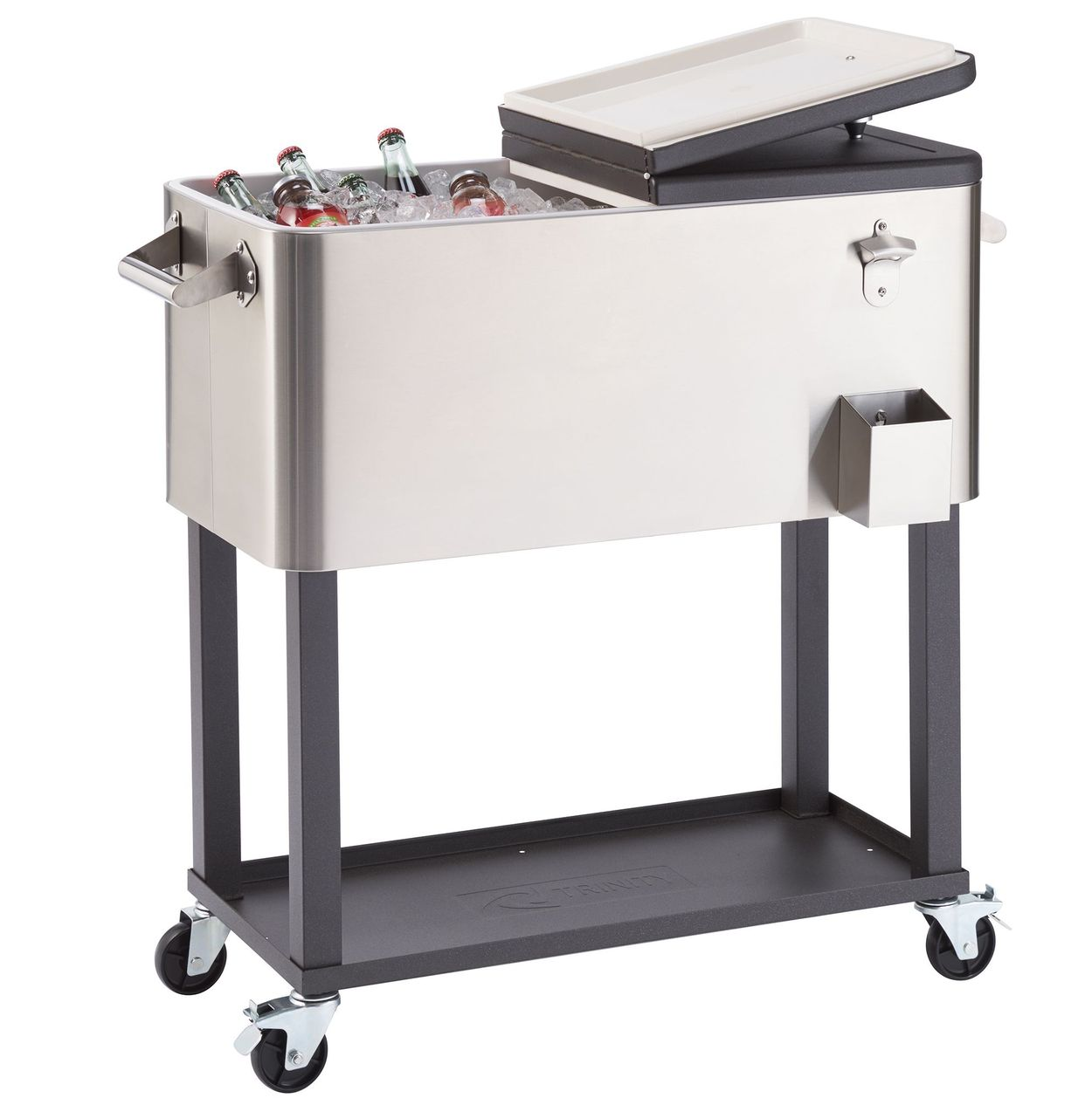 trinity stainless steel cooler with cover