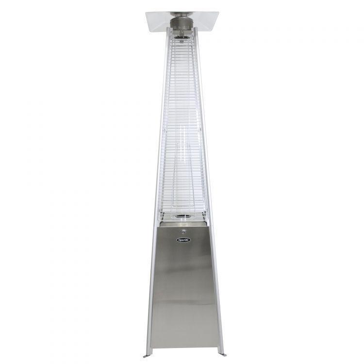dyna glo 42000 btu stainless steel floorstanding liquid propane patio heater