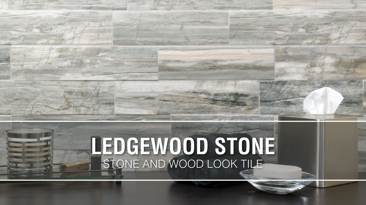 elida ceramica ledgewood stone 12 in x 24 in glazed porcelain linear wood look wall tile