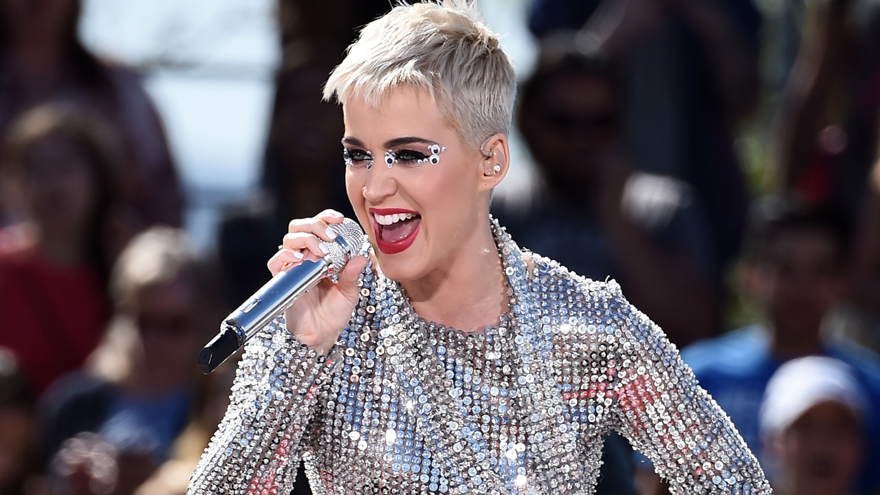 Katy Perry performing during 2017 Witness World Tour