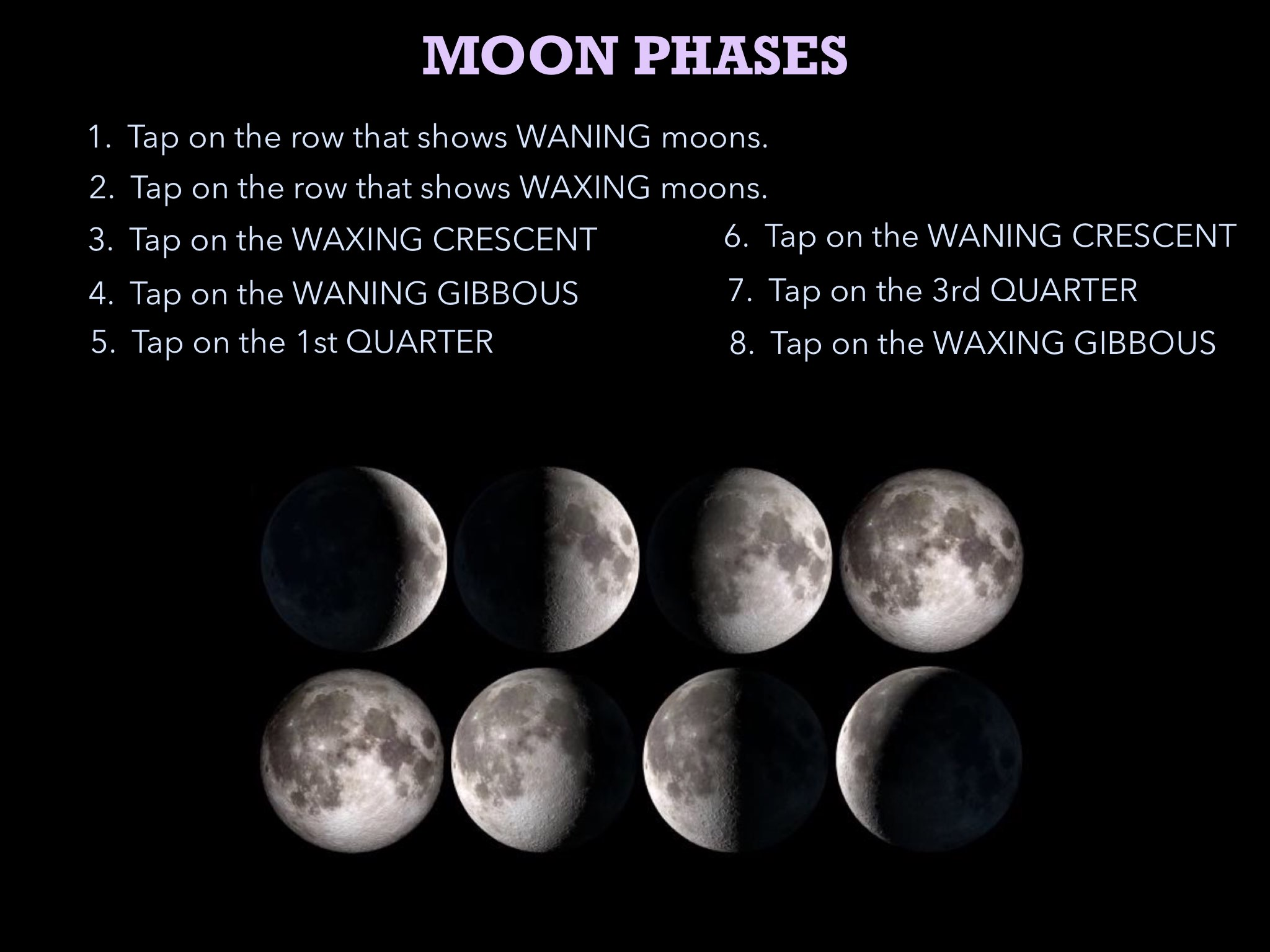 Play Moon Phase Practice By Rebecca Parrott