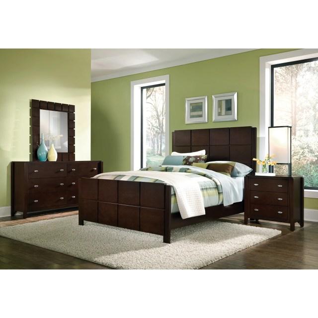 Mosaic 6 Piece Queen Bedroom Set Dark Brown