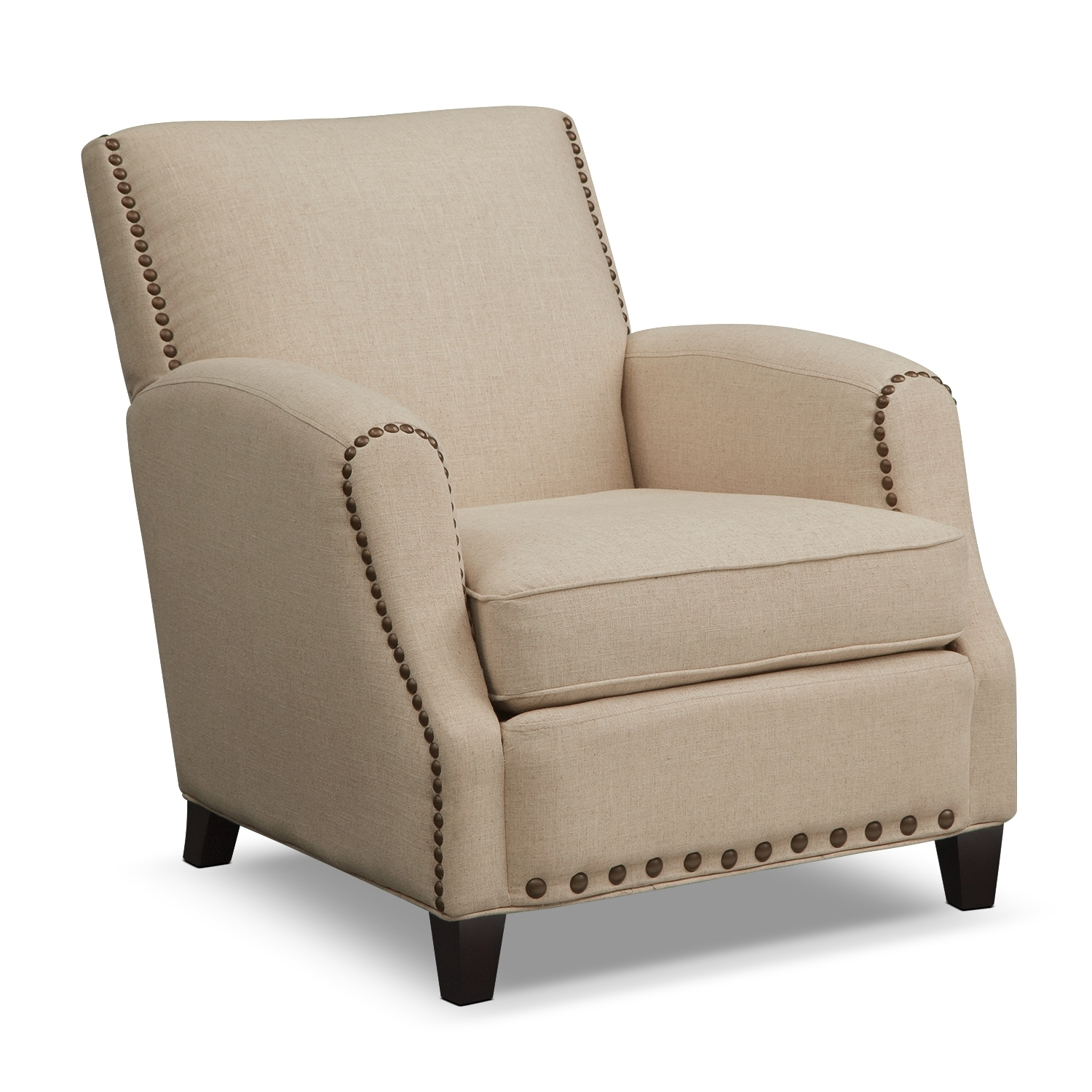 Blue And Beige Accent Chair