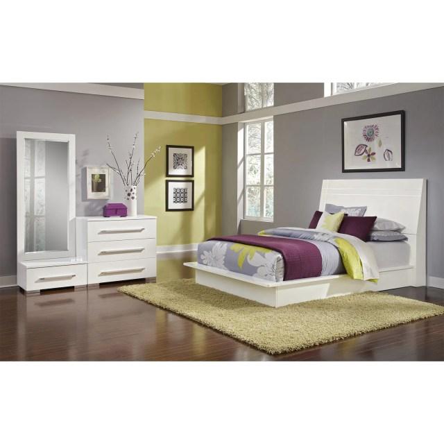 Dimora 5 Piece Queen Panel Bedroom Set White