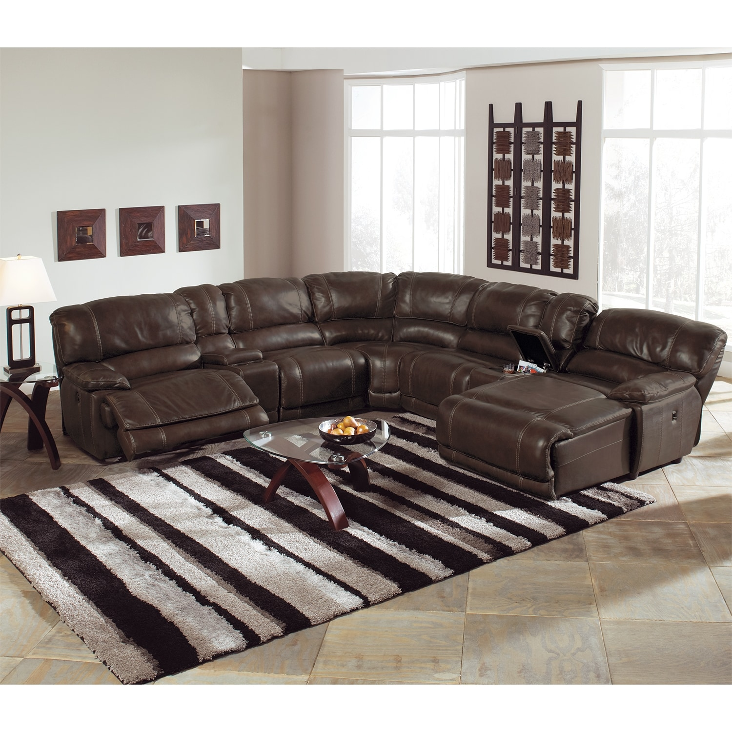 Brown Chaise Couch Leather