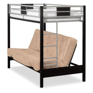 Samba Youth Twin Full Futon Bunk Bed With Cuccino Mattress
