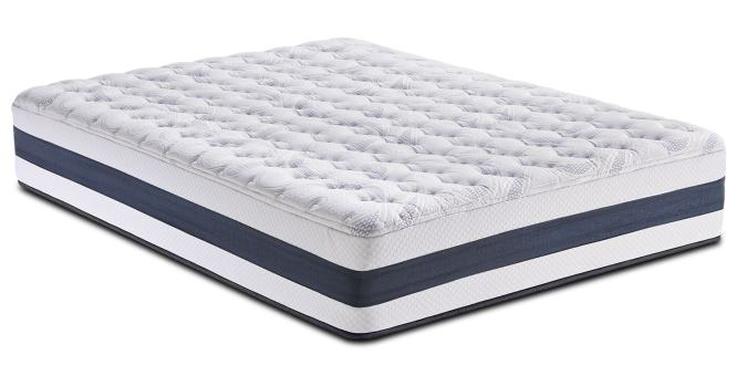 Carson Ridge Full Mattress And Low Profile Foundation Set By Perfect Sleeper