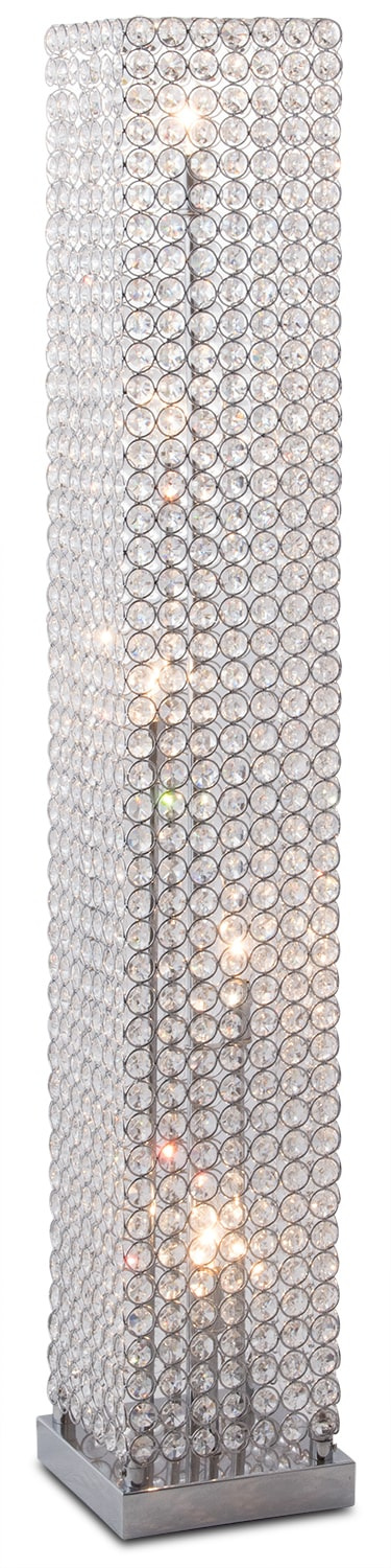 Crystal Tower Floor Lamp Value City Furniture And Mattresses