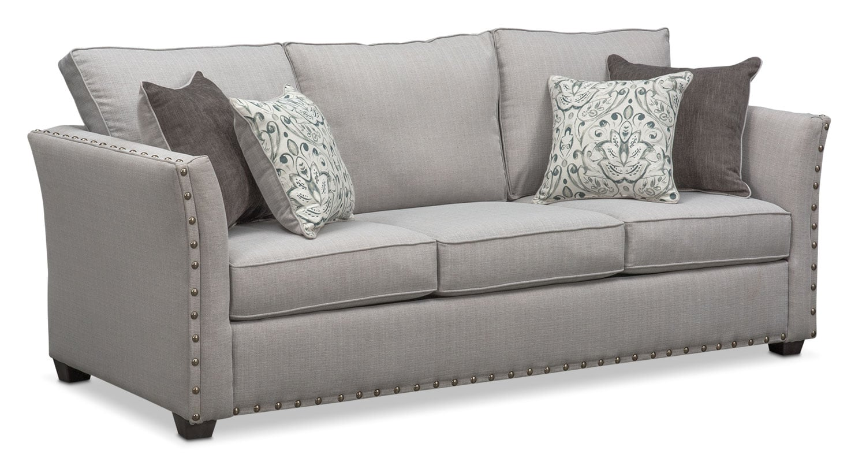Mckenna Queen Memory Foam Sleeper Sofa - Pewter