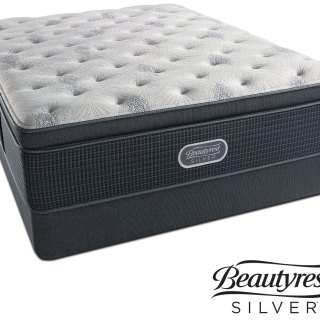 Crystal Ridge Luxury Firm Pillowtop California King Mattress And Split Foundation Set