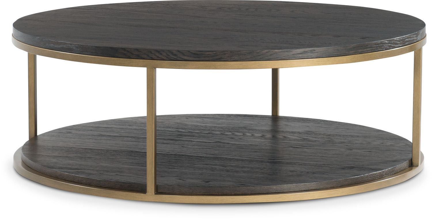 Malibu Round Metal Cocktail Table - Umber