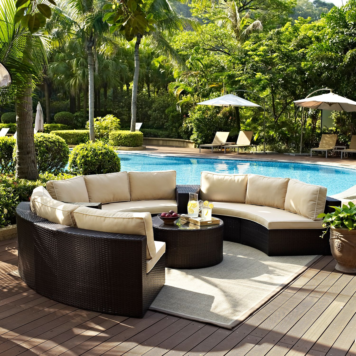 Biltmore 5-Piece Outdoor Sectional and Coffee Table Set ... on 5 Piece Sectional Patio Set id=68533