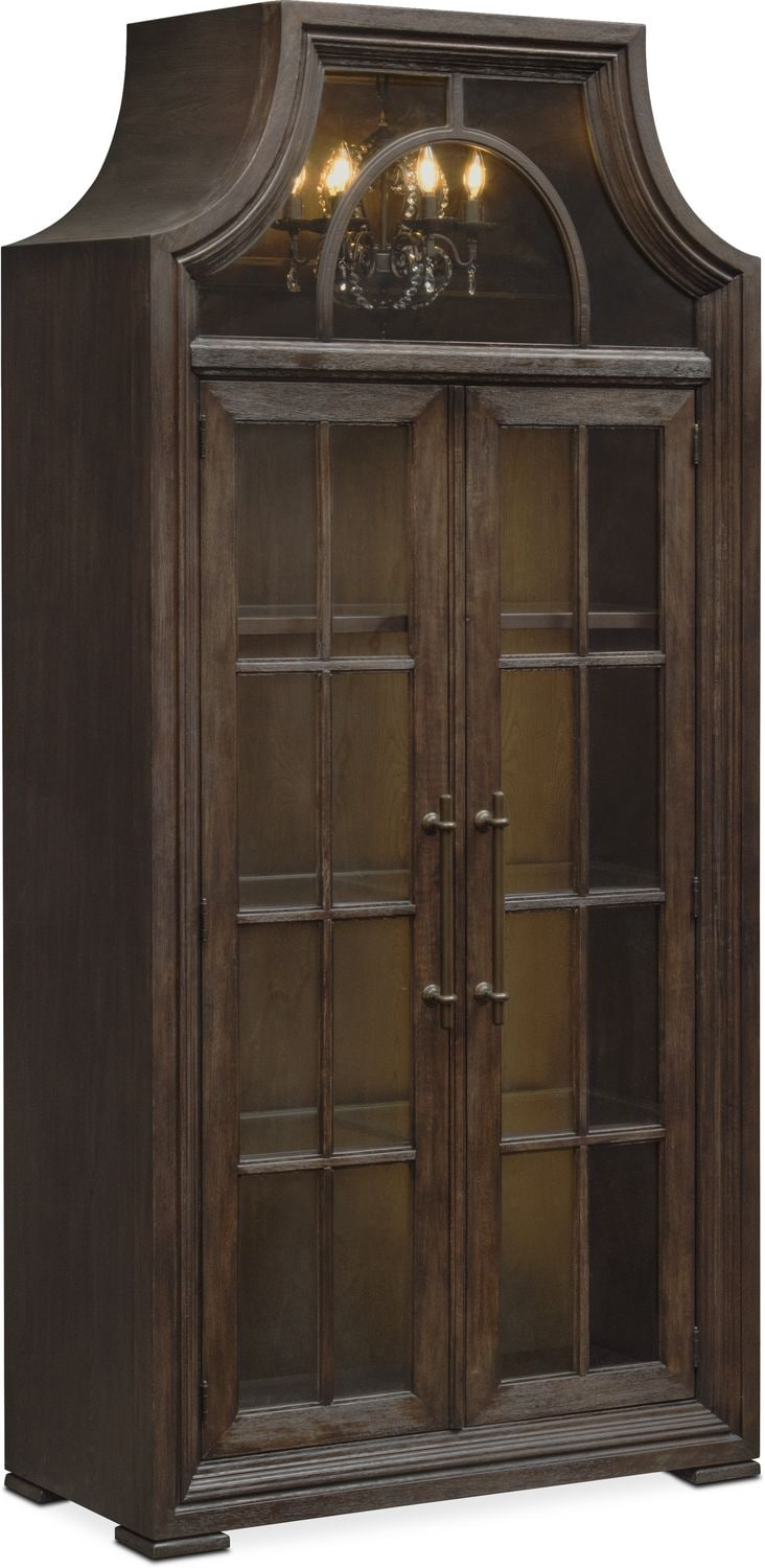 Lancaster Display Cabinet With Hutch Truffle Value