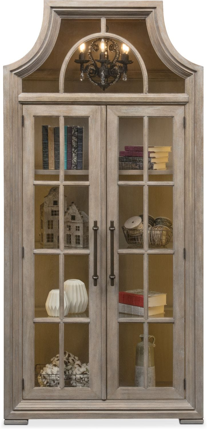 Lancaster Display Cabinet With Hutch Parchment Value - Best Outdoor Furniture