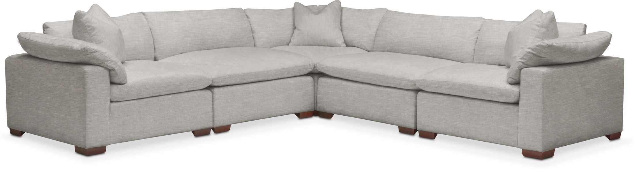 plush 5 piece sectional