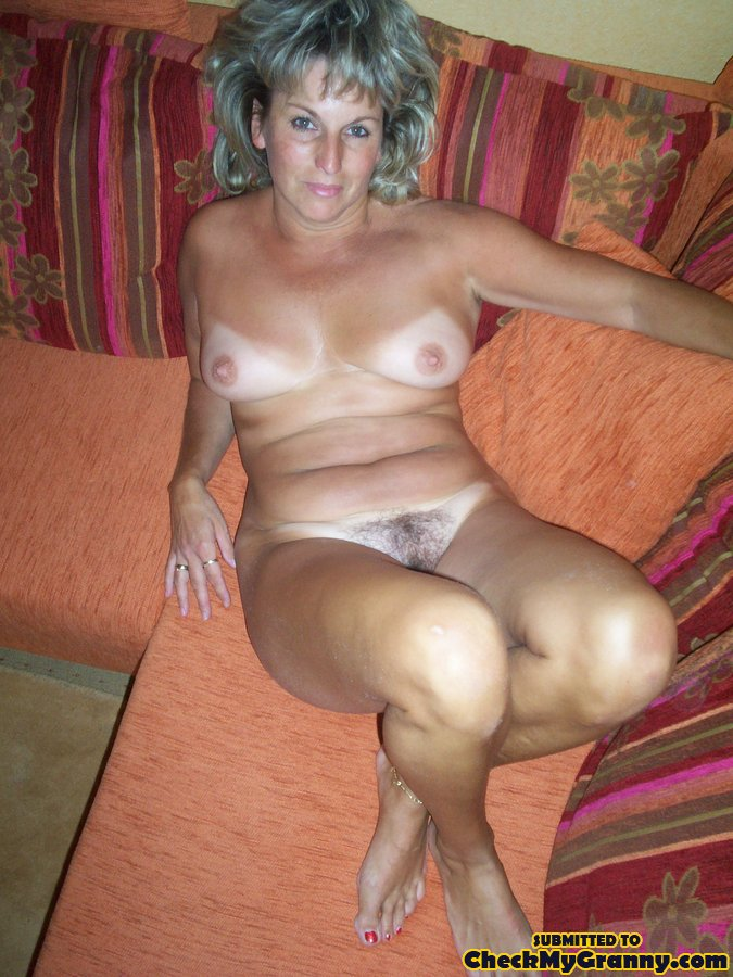 Gray haired nude