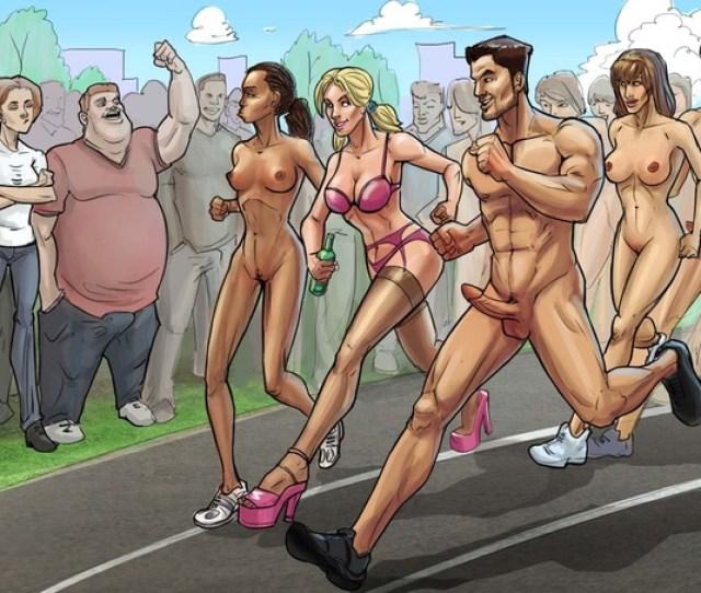 Naked Cartoon Marathon And Sloppy Doggy Style In The Public Toilet Cartoontube Xxx