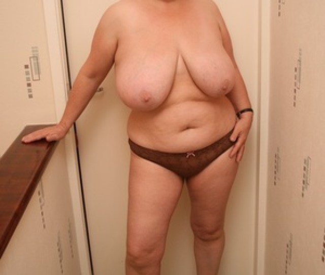 Bbw Granny Pose Topless And Teases With Her Giant Breasts Before She Pulls Down Her Brown