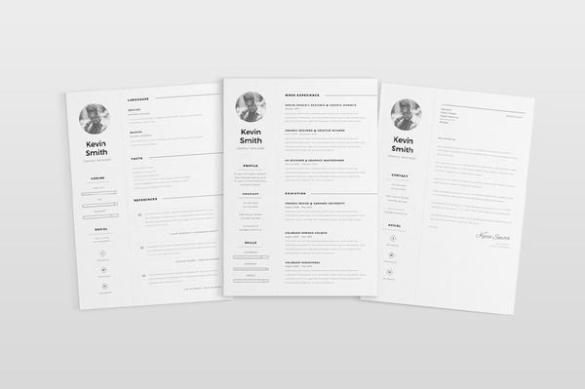 Download 29 Simple  Clean and Minimal Resume Templates   WiseStep free minimal resume template