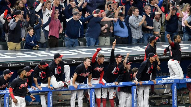 Image result for cleveland indians celebrating 2017 al central