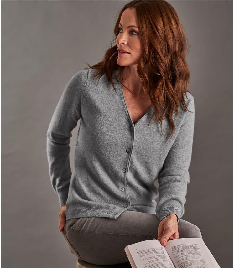 Wool Blue Merino V Neck Dark Sweater