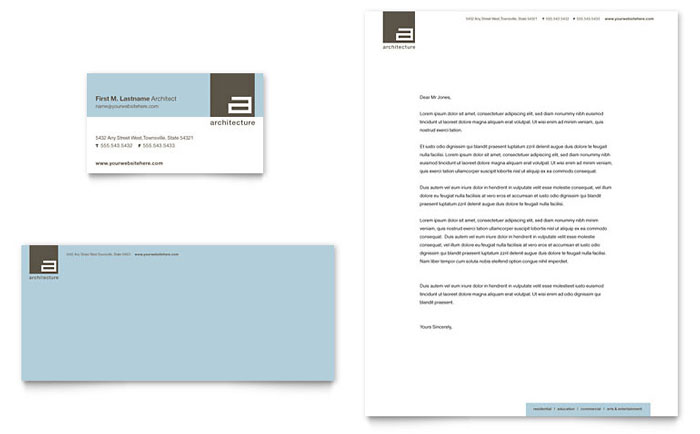 Architect Business Card & Letterhead Design