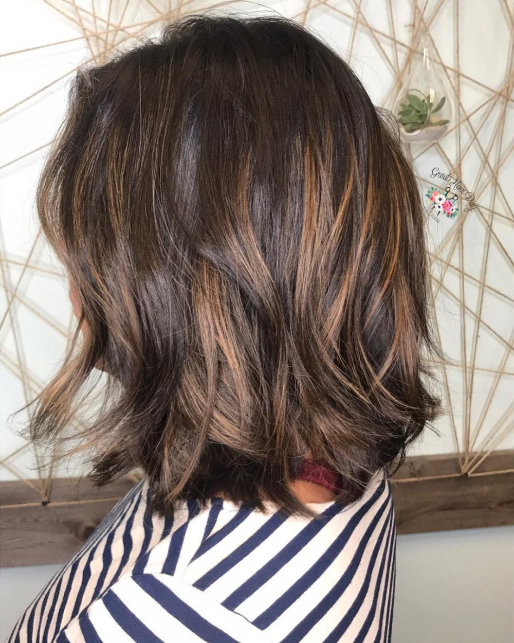 Short Brown Hairstyles With Caramel Highlights Hrotelrehberii