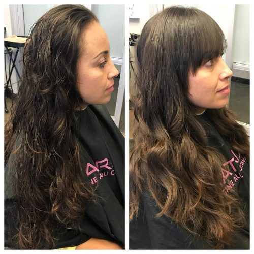 Image Result For Hairstyles For Long Hair Fringe